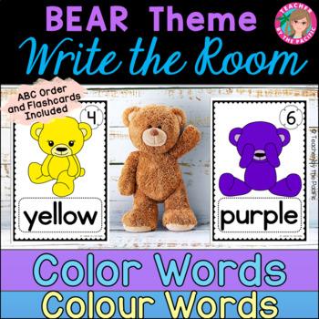 COLOR {COLOUR} WORDS - Write the Room {TEDDY BEARS}