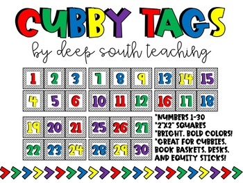 COLOR Cubby Tags!