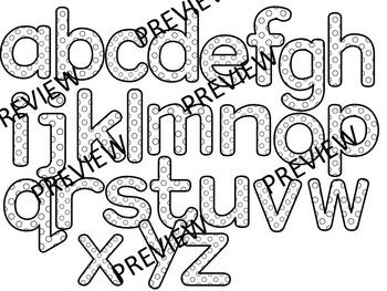 COLOR ME HAPPY! Alphabets, Letters,Numbers, Symbols Clip Art (88 images)