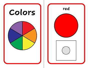 COLOR Match Adapted Velcro BOOK, Speech Therapy, Autism, Early Childhood