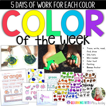 COLOR OF THE WEEK - Activities and Ideas for Learning Colors in the Classroom