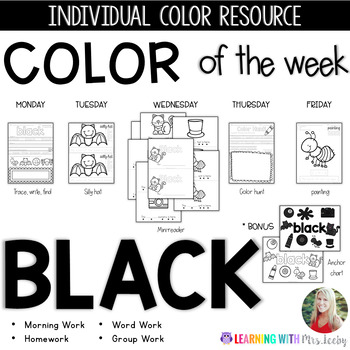 COLOR OF THE WEEK - BLACK - Learning Colors in the Classroom