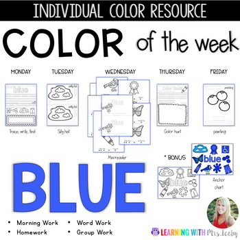 COLOR OF THE WEEK - BLUE - Learning Colors in the Classroom