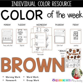 COLOR OF THE WEEK - BROWN - Learning Colors in the Classroom
