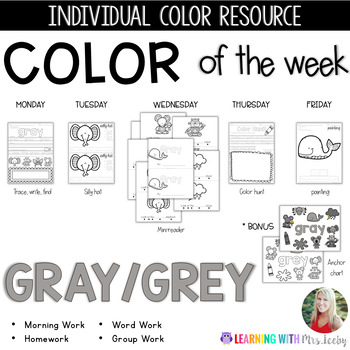 COLOR OF THE WEEK - GRAY / GREY - Learning Colors in the Classroom