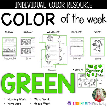 COLOR OF THE WEEK - GREEN - Learning Colors in the Classroom