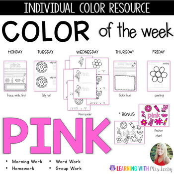 COLOR OF THE WEEK - PINK - Learning Colors in the Classroom