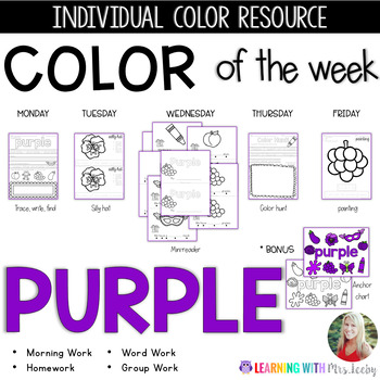 COLOR OF THE WEEK - PURPLE - Learning Colors in the Classroom