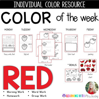 COLOR OF THE WEEK - RED - Learning Colors in the Classroom