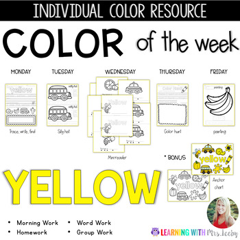 COLOR OF THE WEEK - YELLOW - Learning Colors in the Classroom