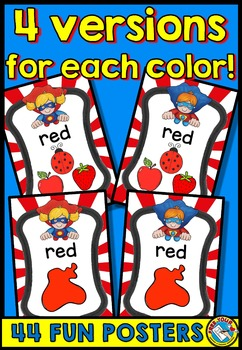 COLOR POSTERS WITH A SUPERHERO THEME: CLASSROOM DECOR COLORS PRINTABLES