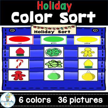 COLOR SORT: FREE December Holiday