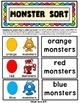 COLOR SORT: Monster Colors {PreK-K/Special Education/Autism}