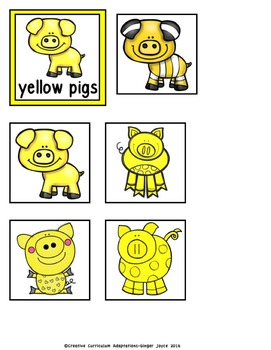COLOR SORT: Pigs FREEBIE
