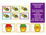 COLOR SORTING AND MATCHING HONEY BEES - GOLDILOCKS AND THR