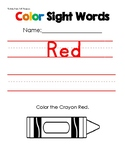 COLORS (ROY G. BIVGBB) Sight Word Trace & Write!