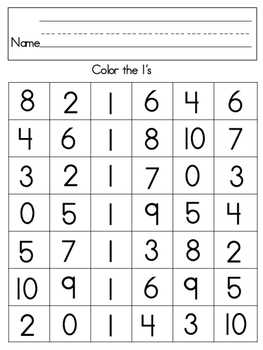 COLOR THE NUMBER
