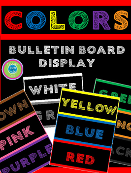 COLOR WORDS ~ BULLETIN BOARD DISPLAY~ FREE LIMITED TIME!