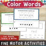 Fine Motor Skills Activities COLOR WORDS