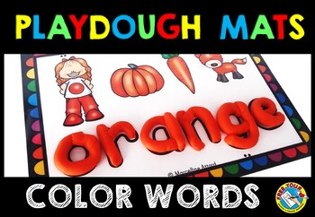 COLOR ACTIVITIES: COLOR WORDS PLAYDOUGH MATS: COLORS PLAYDOUGH MATS