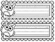 COLOR YOUR OWN Owl Nameplates w/ Cursive Alphabet ~ 8 Different Versions