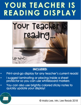 "COLOR ""YOUR TEACHER IS READING"" DISPLAY--BRIGHT PINEAPPLES"