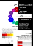 COLOR as VALUE - Color Wheel and Worksheet