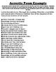 COLORADO Acrostic Poem Worksheet