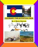 COLORADO FUN ACTIVITIES PACK (CCSS, TESTS, FUN ACTIVITIES, 100+ P.D. PIC'S)