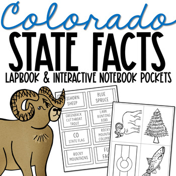 COLORADO History Lapbook Project   State Symbols   Interactive Notebook Pockets