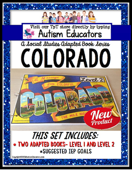COLORADO State Symbols ADAPTED BOOK for Special Education