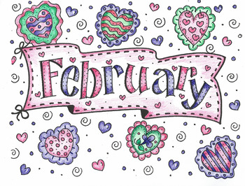 COLORED Color Me FEBRUARY