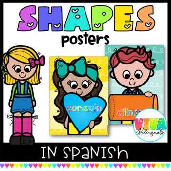 COLORFUL 2D-3D SHAPES POSTERS IN SPANISH