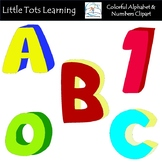 COLORFUL Alphabet and Numbers Clip Art - Commercial Use