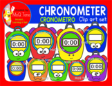 COLORFUL CHRONOMETER - CRONÓMETRO CLIPART SET
