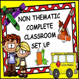 BACK TO SCHOOL NON THEMATIC CLASSROOM DECOR SET UP SET