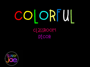 COLORFUL CLASSROOM DECOR PACK