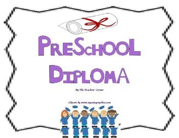 Diploma: A Colorful Preschool Graduation Certificate