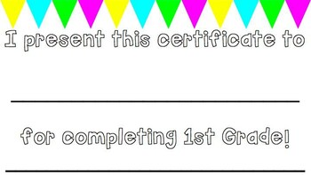 COLORFUL- End of the Year Certificates