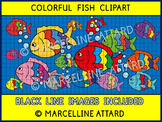 COLORFUL FISH CLIPART + BUBBLES CLIPART: SUMMER CLIPART