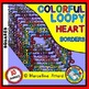 LOOPY HEART BORDERS AND FRAMES CLIPART BUNDLE