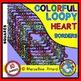 FRAMES BUNDLE: COLORFUL LOOPY HEART FRAMES CLIPART BUNDLE