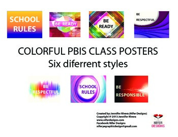 COLORFUL PBIS CLASS POSTER