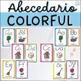 Colorful SPANISH alphabet - ABECEDARIO EN ESPAÑOL - Manuscrito y cursivo