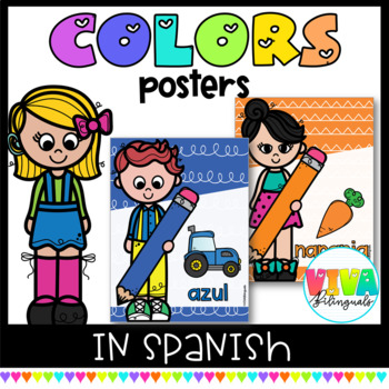 COLORFUL SPANISH COLOR POSTERS