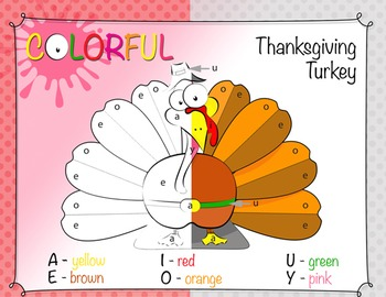 Thanksgiving Activities - Color By Letter Upper/Lowercase Matching Activity