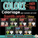 COLORI - MATH ET MOTS - ENSEMBLE COMPLET - French Colour by number and word