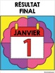 COLORI - MATH ET MOTS - Thème: Jour de l'An - French Colour by number and word