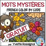 COLORIAGE DE MOTS FRÉQUENTS - GRATUIT - Free French Color