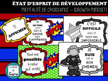 COLORIAGE- ÉTAT D'ESPRIT DE DÉVELOPPEMENT - FRENCH GROWTH MINDSET